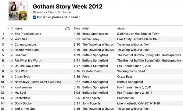Gotham Story Week 2012